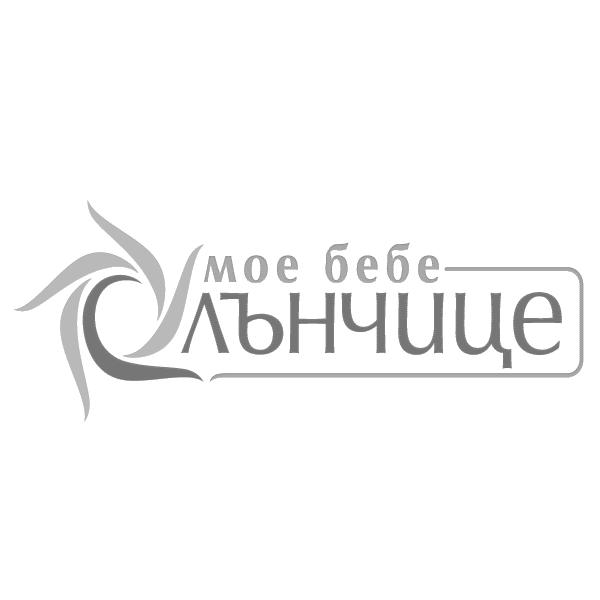 Спален комплект от седем части Мече с балони 60/120 - Розов + Лилав