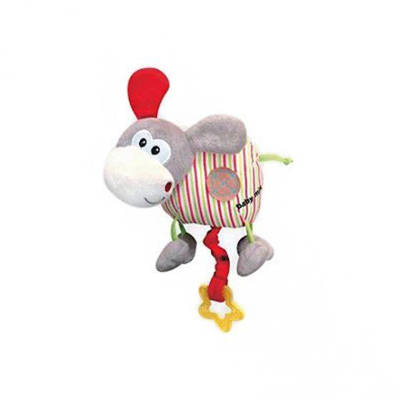 Плюшена музикална играчка Сиво магаренце - BABY MIX