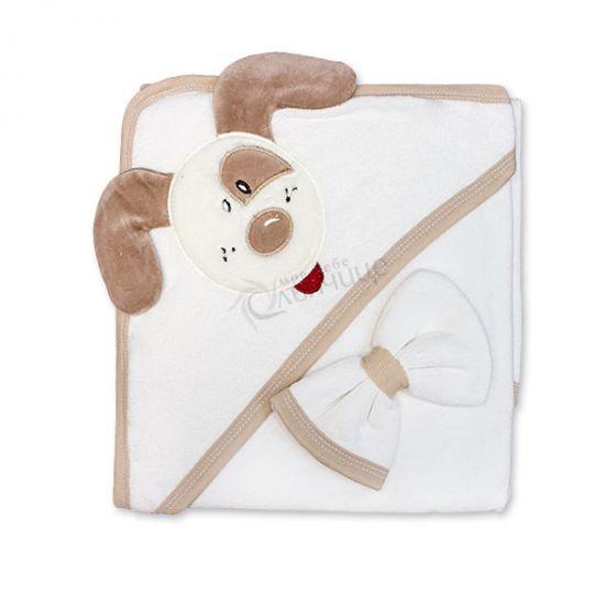 Бебешка хавлия с качулка Dog