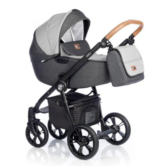 Бебешка количка 2в1 ESSO BLACK CHECK - ROAN 2018