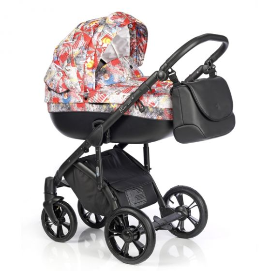 Бебешка количка 2в1 BASS SOFT PRINT POP ART - ROAN