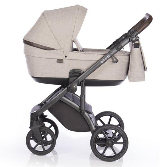 Бебешка количка 2в1 BLOOM TRUFFLE - ROAN- кош за новородено