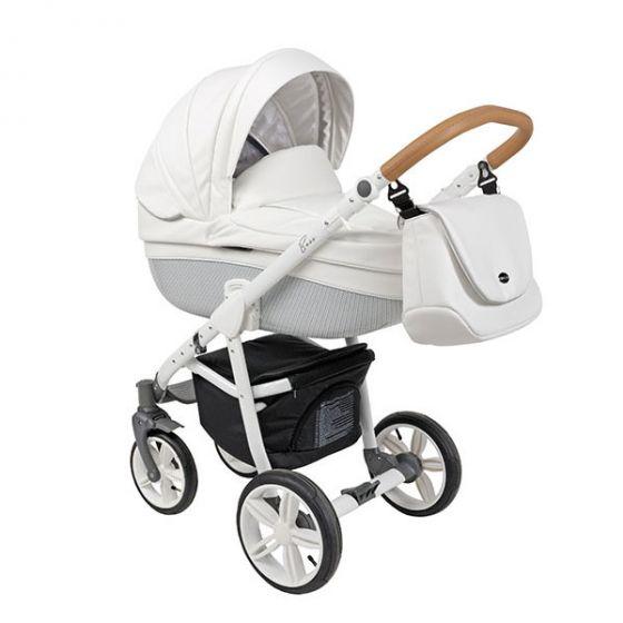 Бебешка количка 2в1 BASS COCONUT ECO/WHITE - ROAN
