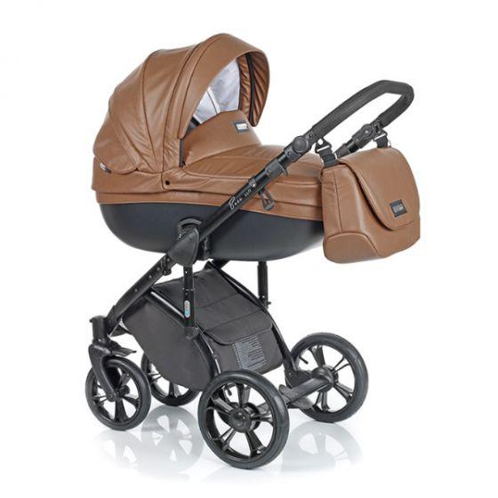 Бебешка количка 2в1 BASS SOFT ECO COGNAC - ROAN