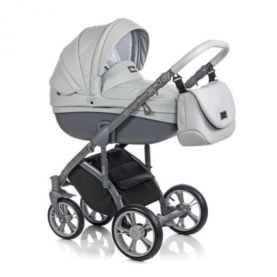 Бебешка количка 2в1 BASS SOFT ECO DOVE GREY - ROAN