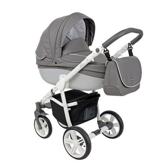 Бебешка количка 2в1 BASS MOUNTAIN ECO/WHITE - ROAN