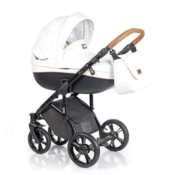 Бебешка количка 2в1 BASS SOFT ECO CARAMEL WHITE - ROAN