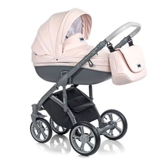 Бебешка количка 2в1 BASS SOFT ROMANTIC PINK - ROAN