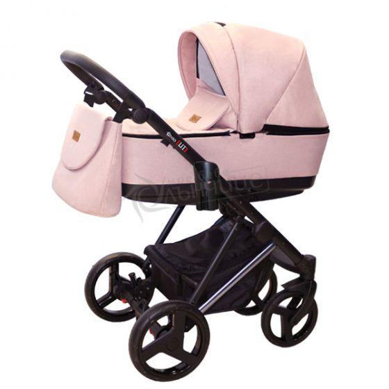 Бебешка количка ELITE Soft Powder - NIO - кош за новородено