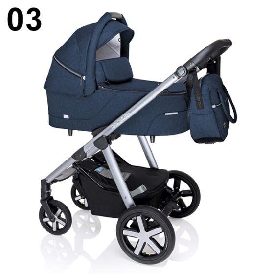 Бебешка количка 2в1 HUSKY - BABY DESIGN 2020 - тъмно синя