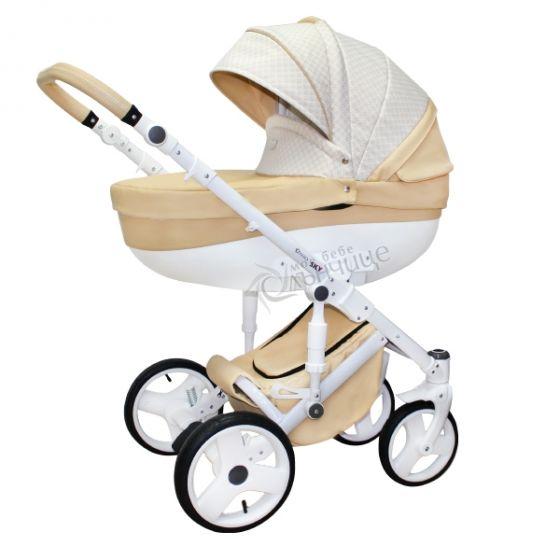 Бебешка количка SKY BEIGE MELANGE - NIO 2018