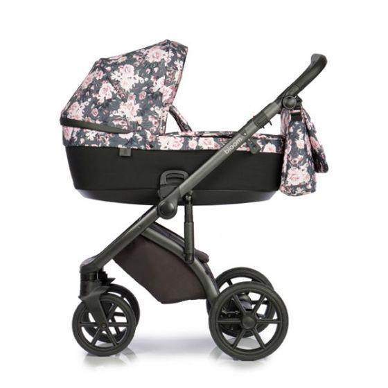 Бебешка количка 2в1 BLOOM NIGHT FLOWERS - ROAN - коша за новородено