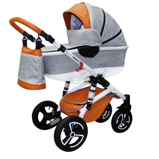 Бебешка количка VOGUE LUX GREY MELANGE - NIO