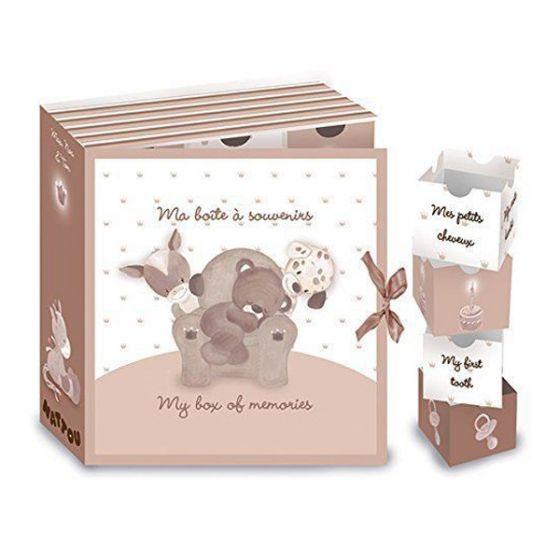 Бебешка кутия за спомени - Max, Noa & Tom - Nattou