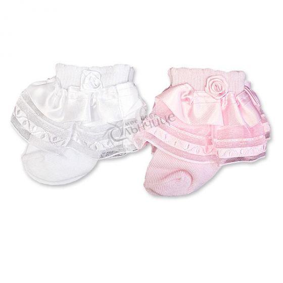 Бебешки чорапки с дантела Sweet