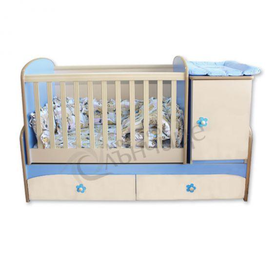 Трансформиращо бебешко легло Гергана - люлка стандарт