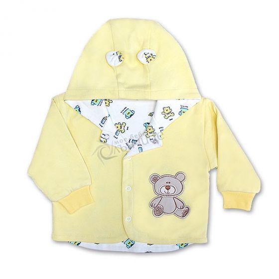 Бебешко памучно яке Baby Love - Жълт