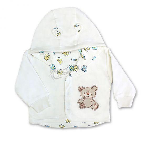 Бебешко памучно яке Baby Love - Екрю