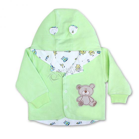 Бебешко памучно яке Baby Love - Зелен