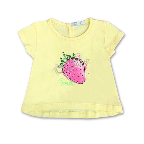 Блуза къс ръкав - Ягодка Жълт