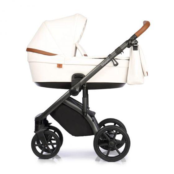 Бебешка количка 2в1 BLOOM WHITE - ROAN - бяла