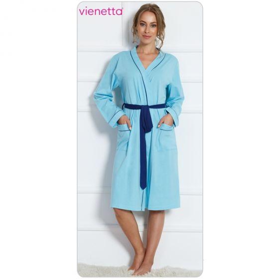Дамски халат с дълъг ръкав