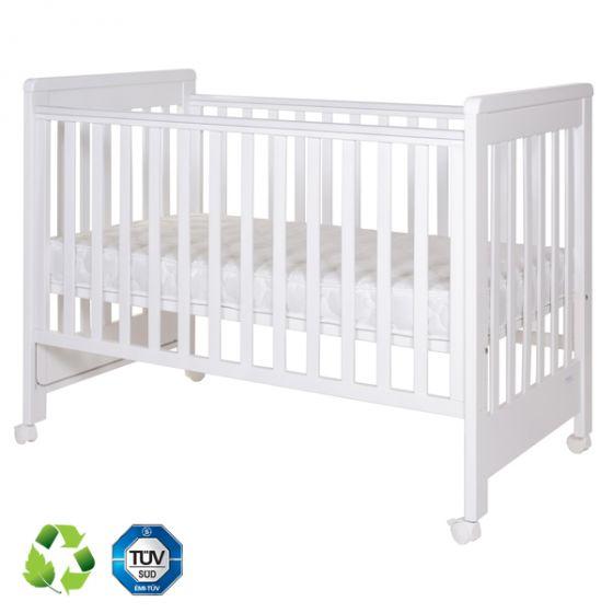Дървено легло Dreamy Plus 2 White 60/120см - Treppy