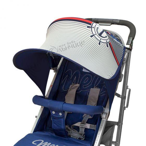 Дизайнерски двулицев сенник за бебешка количка с UV защита - Baby Sailor