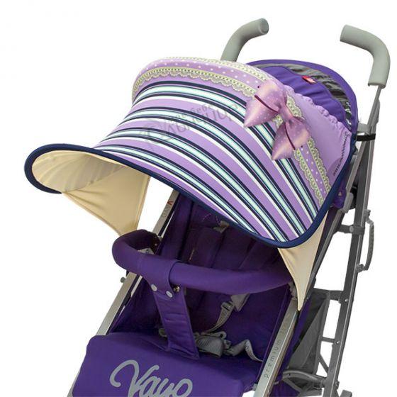 Дизайнерски двулицев сенник за бебешка количка с UV защита - Dream