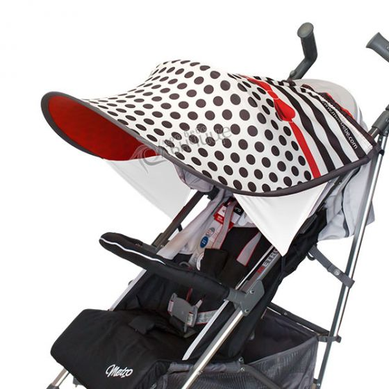 Дизайнерски двулицев сенник за бебешка количка с UV защита - Glamour Dots