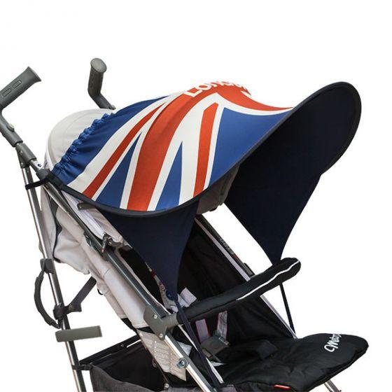 Дизайнерски двулицев сенник за бебешка количка с UV защита - London