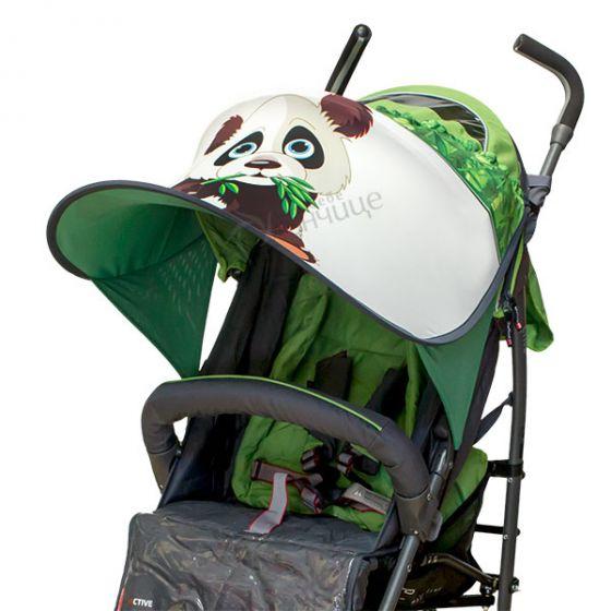 Дизайнерски двулицев сенник за бебешка количка с UV защита - Pandoo