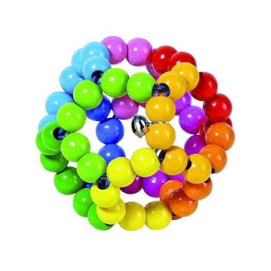 Еластична дървена дрънкалка топка - HEIMESS