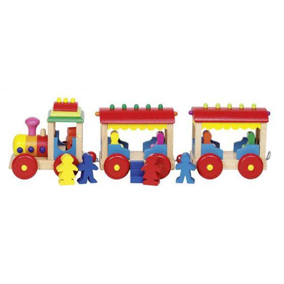 Дървена играчка - Влак GOKI