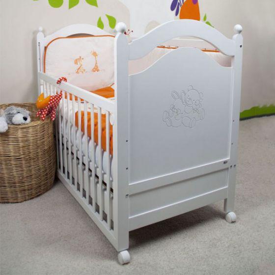 Дървено легло MIKI БЯЛ - 60/120см