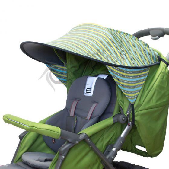 Двулицев сенник за количка с UV защита - Elegant/Сив