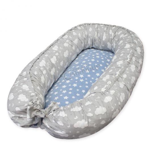 Гнездо за бебе - Облачета Soft Touch Син