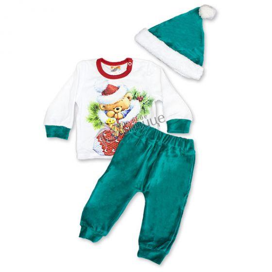 Коледен комплект Мече в чорапче