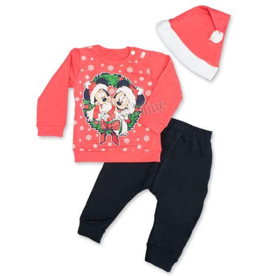 Коледен комплект три части - Mini & Mickey Mouse