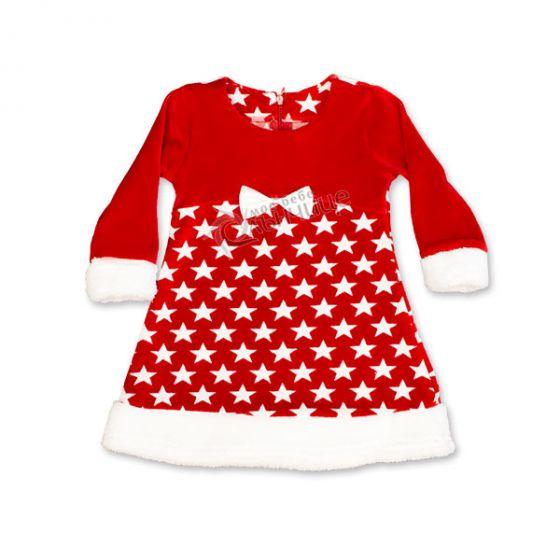 Коледна рокля Звезда 110-128см