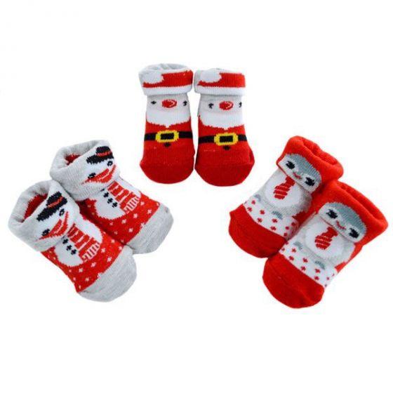 Коледни чорапки за бебе - Коледни герои