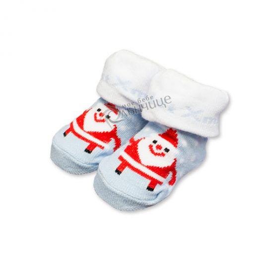 Коледни чорапки за бебе - Зима