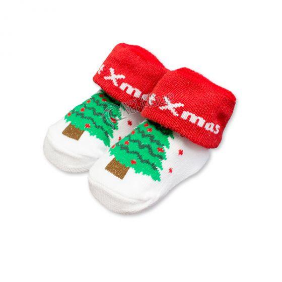 Коледни чорапки за бебе - Елхичка