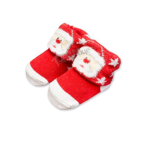 Коледни чорапки за бебе - Дядо Коледа