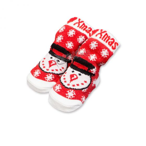Коледни чорапки за бебе - Снежко