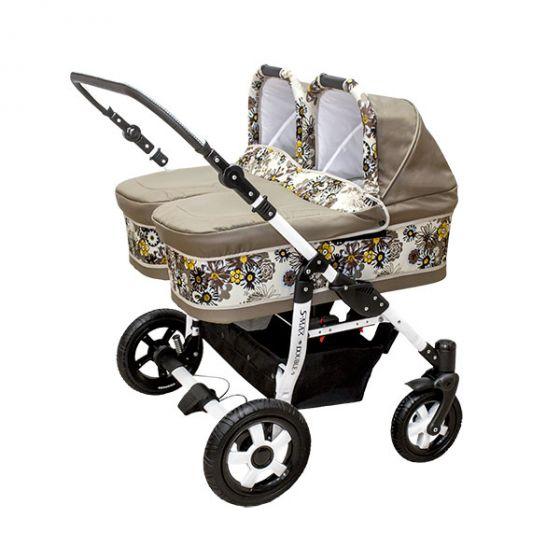 Комбинирана количка за близнаци S-MAX DOUBLE DAISY