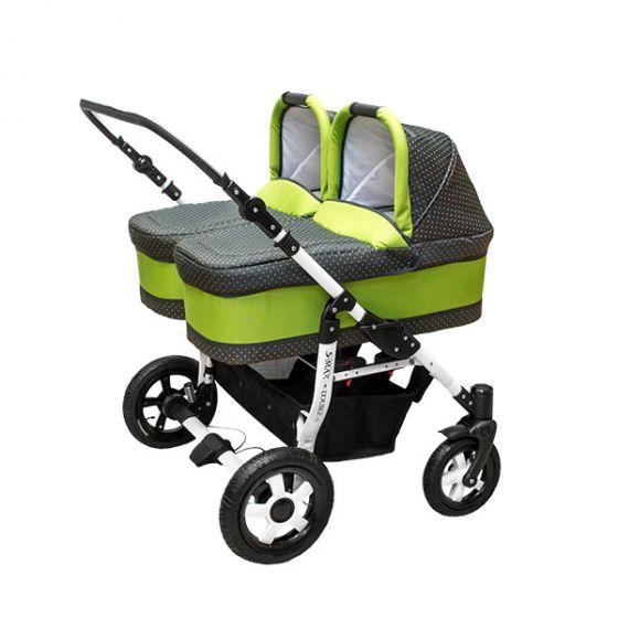 Комбинирана количка за близнаци S-MAX DOUBLE KIWI