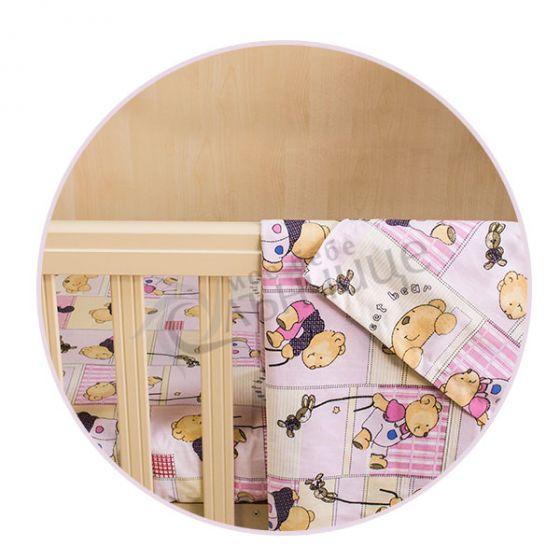Комплект чаршафи Happy Bear - Розов