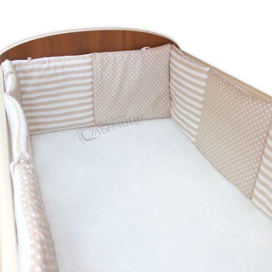 Комплект обиколници за креватче - Dots & Stripes