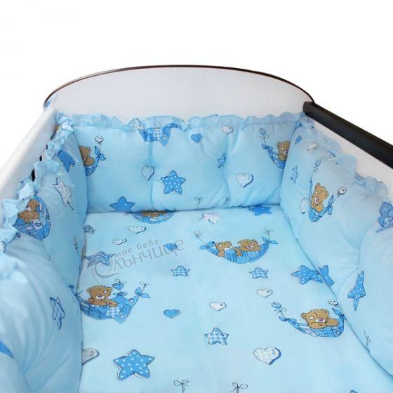 Комплект обиколници за креватче - Blue Cradle